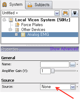 Vicon Nexus Software Setup Follow the brief instructions below to setup the Vicon Nexus Software to sample the Trigno analog signal outputs. 1. Place the Vicon Nexus into online status 2.