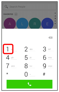 You can also touch > Smart Contacts > to display the dialer screen. 2. Touch and hold to dial your voicemail number.