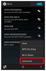 Wi-Fi is enabled. You will see the names and security settings of in-range Wi-Fi networks. To disable Wi-Fi, touch the slider again. 4.