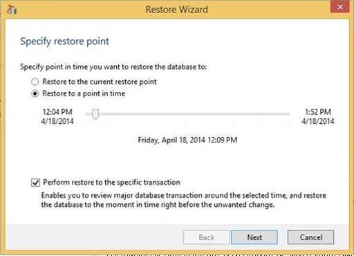 Explorer for SQL New precise recovery of SQL databases - Visibility into SQL 2005, 2008, 2008 R2, 2012 and 2014 VM backups.