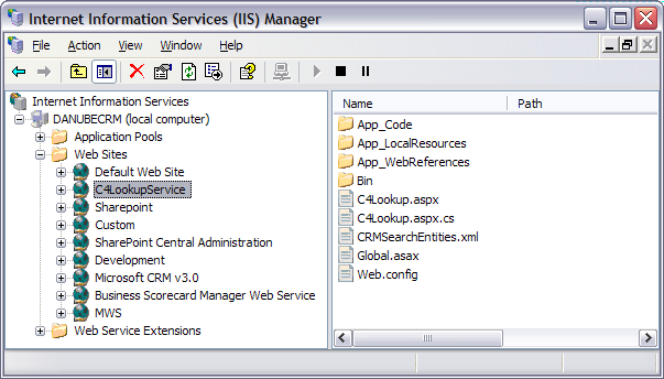 Configuring the IP Phone Service and XML Display Service CRMLoginDomain Domain of the user specified in CRMLoginUsername CRMServiceURL URL to the CrmService.