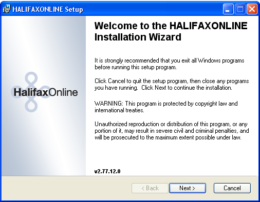 INSTALLATION AND SETUP DOWNLOAD Click below to download and install the Halifaxonline live system: http://mitsweb.iitech.dk/downloads/live/installations/halifax/en/halifax_webdeploy.