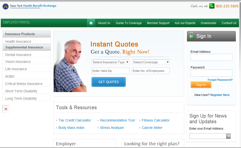 Simplifies access and choices for employers Easy account setup Compare: Premiums Benefits