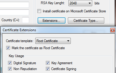 Issuing Certificates Signed by a Root Certificate Issue the Root Certificate In some cases, is necessary to issue certificates for an entire organization.