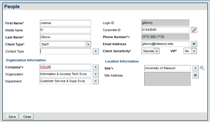 2.0 Creating New Incidents Remedy ITSM User Guide 2.4 CREATING A NEW INCIDENT WITH AN UNCOMMON LAST NAME 1. Click in the Customer field (C) 2. Begin to type in the last name(at least 3 letters) 3.