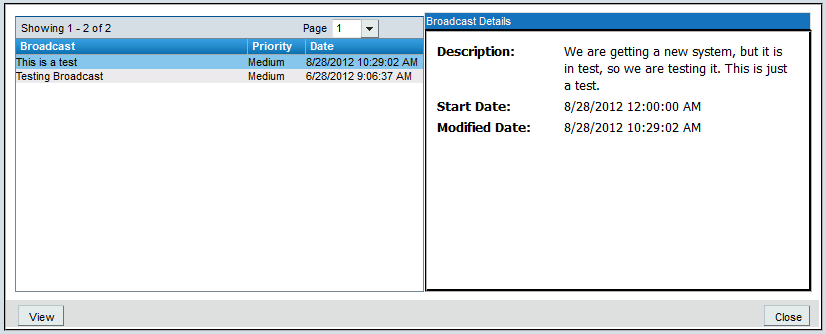 7.0 Other Tasks Remedy ITSM User Guide 7.0 Other Tasks 7.1 TO VIEW BROADCAST AND CREATE AN INCIDENT BASED ON THE BROADCAST 1.