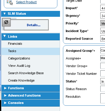 Remedy ITSM User Guide 5.0 Updating Incidents You can export the report to Excel using the Export report button or print the report using the Print report button 7.6 ADDING A TASK TO AN INCIDENT 1.
