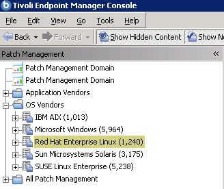 Chapter 3. Using Patch Management for Red Hat Enterprise Linux Patch using Fixlets You can deploy patches from the IBM Endpoint Manager console and view the Red Hat bulletin for a specific Fixlet.