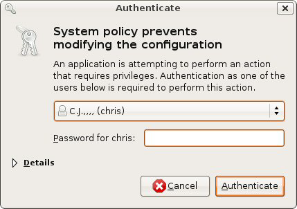 Appendix B Setting Up Your Computer s IP Address 2 When the Network Settings window opens, click Unlock to open the Authenticate window. (By default, the Unlock button is greyed out until clicked.