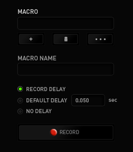 MACROS TAB The Macros Tab allows you to create a series of precise keystrokes and button presses. This tab also allows you to have numerous macros and extremely long macro commands at your disposal.