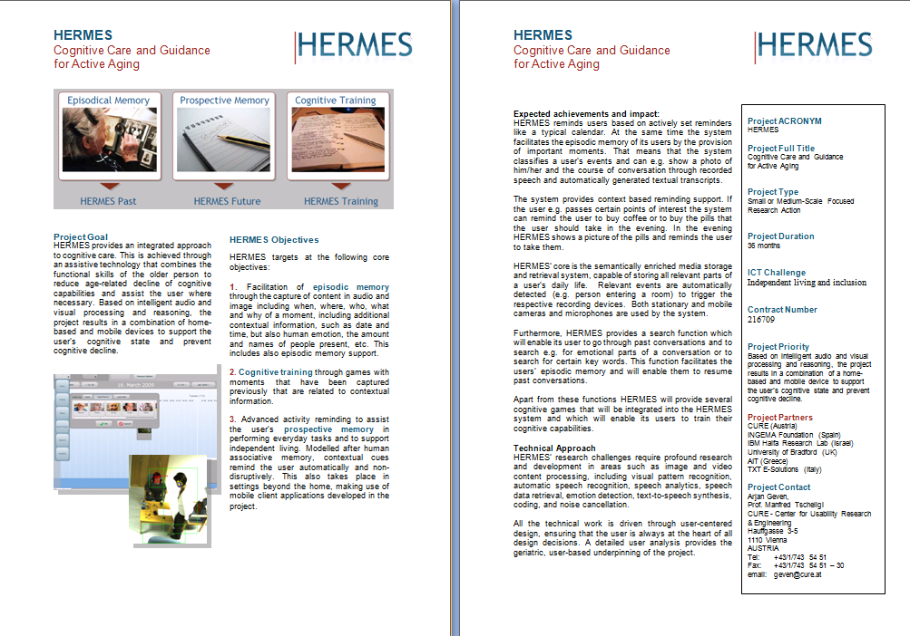 2.3 Project Leaflet The two-page leaflet has been iterated in order to incorporate more detailed information about the project (Figure 3).