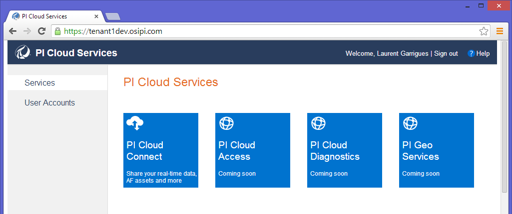 Architecture Overview PI Cloud Connect and PI Cloud Services PI Cloud Services is the overall umbrella under which all OSIsoft Cloud based services are made available to customers.