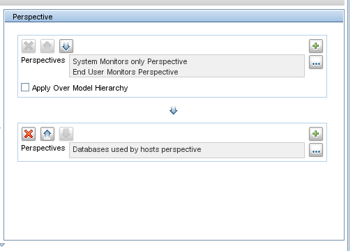 In the above example, we add to the view result all the databases used by hosts which are monitored by EUM or System.