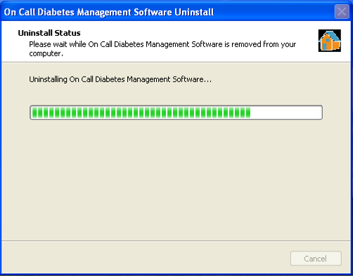 3. Uninstall Instructions Go to the Start menu located on the bottom left corner of your computer. Select All Programs then On Call Diabetes Management Software. Click on Uninstall Software.