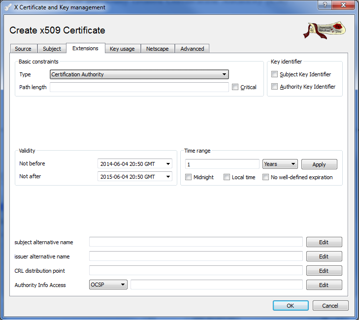 FESB Computer and Data Security Course 2 Figure 2: X Certificate and Key management application. 1. Open XCA and click the New Certificate button to start X.