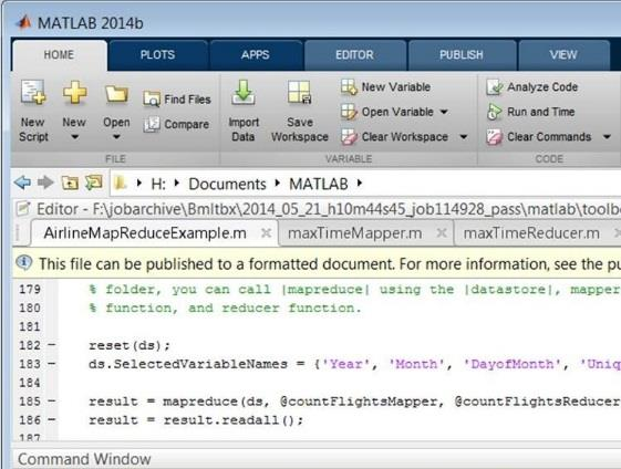 Deployed Applications with Hadoop Datastore HDFS MATLAB runtime Node Data