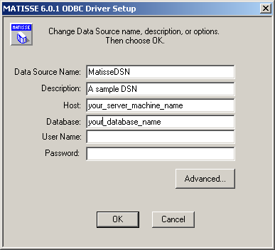 Select the User or System DSN, depending on how accessible the database connection needs to be. Click the Add button.