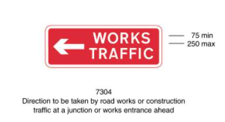 All signage to be as per the No. 311, Road Traffic; The Traffic Signs Regulations and General Directions 2002.