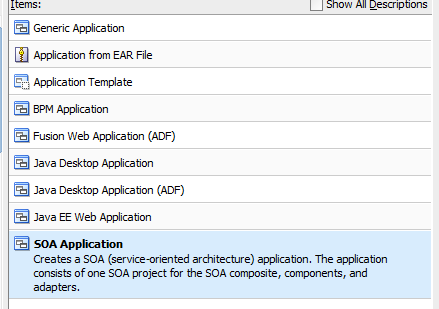 EBS Adapter Configuration Step #1 SOA Suite requires a connection at Design time to EBS.
