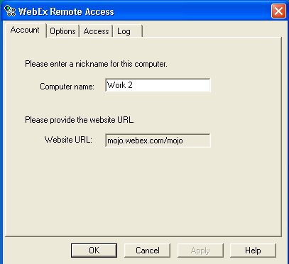 16 of 17 To log a remote computer in to the Remote Access network: 1 On the taskbar of the remote computer, right-click the WebEx Remote Access - Offline icon.