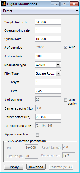 Creating a digitally modulated signal In the iqtools main window, click on Digital Modulations (single & multi carrier).