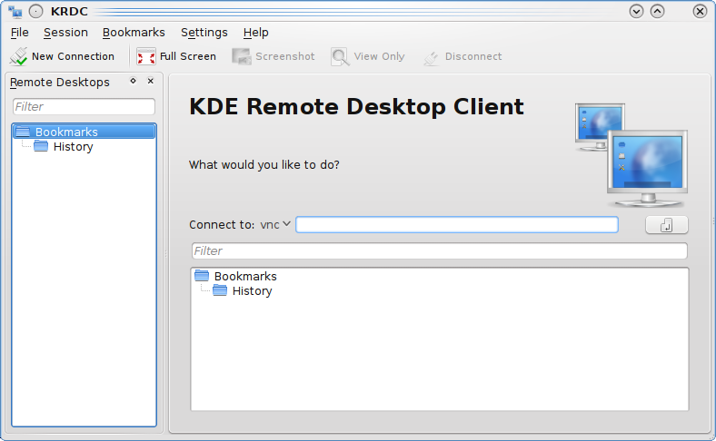 Chapter 3 Using Remote Desktop Connection It is very easy to use Remote Desktop Connection - it has a simple interface, as shown in the screenshot below. 3.1 Connecting Remote Desktop Connection to compatible servers Remote Desktop Connection is a client, and it needs to be used with compatible servers.