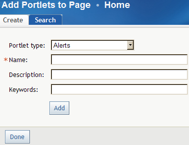 12 Chapter 3 Getting Started: The SAS Information Delivery Portal 4. From the Portlet type drop-down list, select SAS BI Dashboard Portlet. 5.