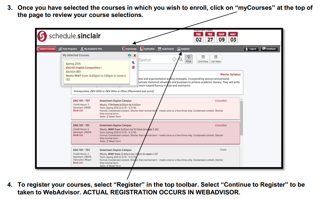 COURSE SELECTION, RESTRICTIONS &