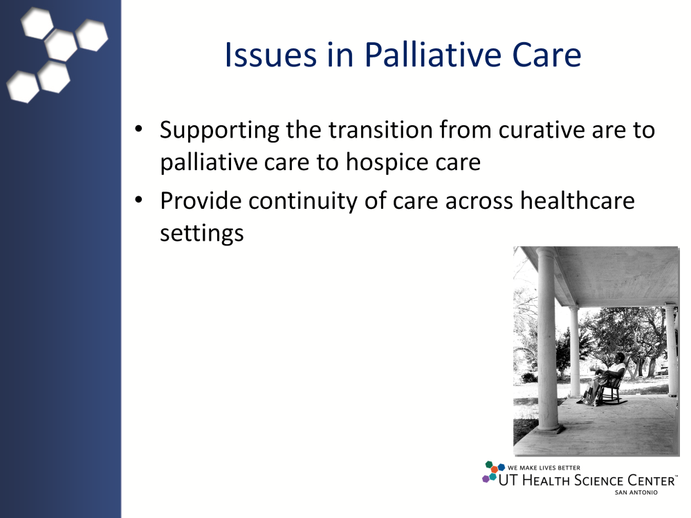 Lack of understanding of what comprehensive palliative care and hospice services programs offer leads to confusion over when it is appropriate to consult or