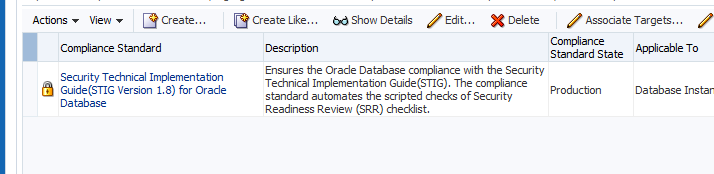 Oracle Provided Oracle DB 11g STIG Compliance Includes both Oracle Database and Oracle Home Checklists Almost all