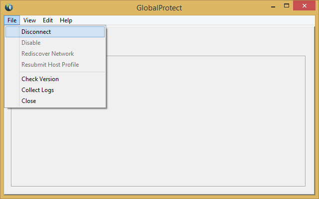 Right click on the GlobalProtect icon. Select Disconnect. 2.