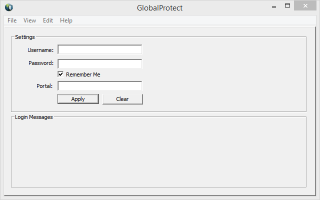 Configure the GlobalProtect VPN client for PC or Mac This only needs to be done once. 1. After installation, the GlobalProtect VPN client will launch automatically. 2.