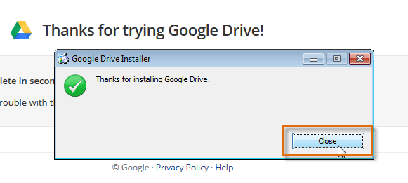 2. NOTE: The CREATE button now says NEW 3. The Download Google Drive for Windows dialog box will appear. Review the Terms of Service, then click Accept and Install. 4. 5.