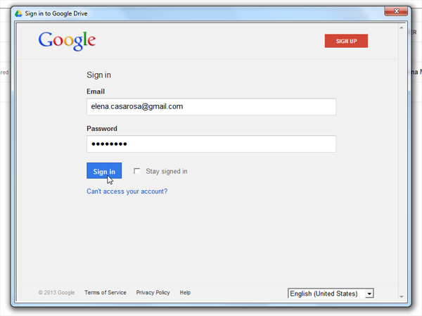 9. 10. Click Sign in now. 11. 12. Enter your Google username and password, then click Sign in. 13. 14.