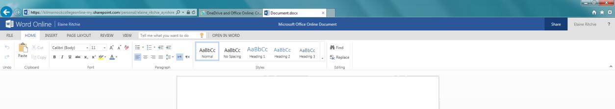 on the text that says Document at the top of the