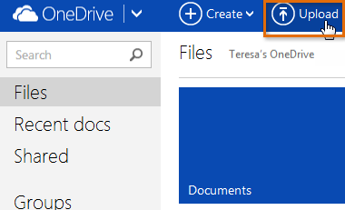 To upload files to