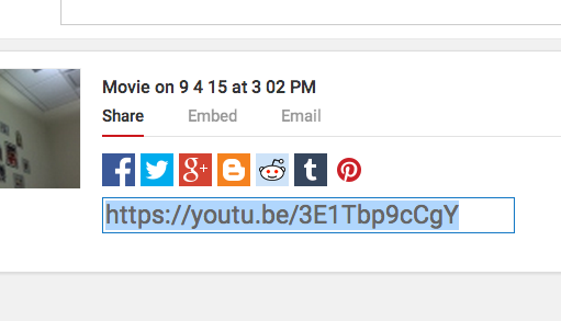 Step 3: Share the video on Moodle 1.