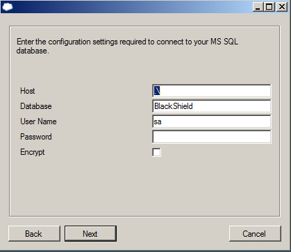 For MS SQL: For Oracle: Depending on your SQL settings, you may be prompted to enter one or