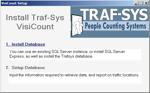 Install Database Here we install the database to the SQL Sever that we configured.