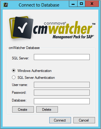 Programs\connmove GmbH\cmWatcher. This file contains the access data for the database that is used by the cmwatcher service.