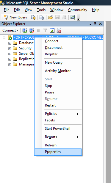 SQL Authentification SQL Server options should allow connection via SQL Server Authentication.