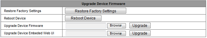 3.5.4 Maintain Figure 22 Click Restore factory settings, it will pop up a dialog to ask you if restore factory settings, the camera will restore factory settings and reboot after you confirmed.