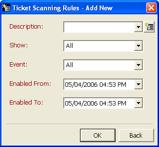 58 CHAPTER 2 Define Ticket Scanning Rules During this process, you identify a scanner and determine the events and shows for which the scanner can validate tickets.