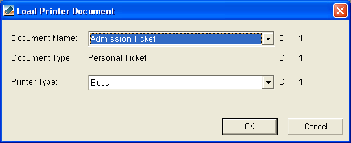 WIRED BARCODE SCANNING IN THE PATRON EDGE 3 Define ticket barcodes 1. Access Administration and expand the Document Design folder. 2.