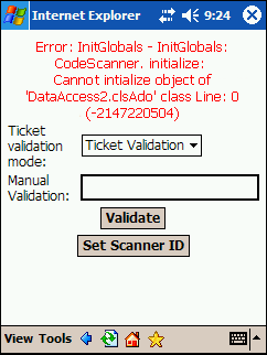 WIRELESS BARCODE SCANNING IN THE PATRON EDGE 69 The TIX_ScanEngine.dll is not registered on the machine running IIS. Try manually registering the TIX_ScanEngine.