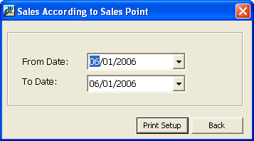 74 CHAPTER 3 The Sales Point Sales report provides sales data for a specific sales point that you designate.