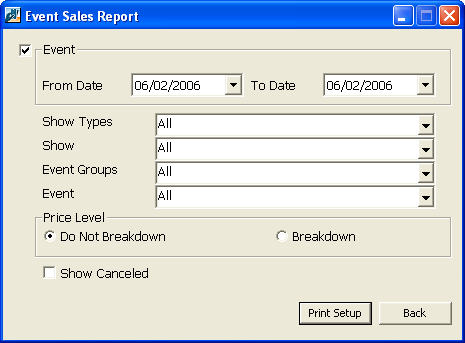 BARCODE SCANNING REPORTS 75 In addition to sales point data you can, report on ticket records generated by membership card scanning with several reports in ThePatron Edge that provide price type data.
