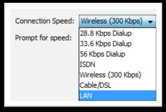 The Connection Speed can also be set from the Preferences menu (PC users Edit > Preferences and MAC users Blackboard Collaborate > Preferences) Audio Setup Wizard To verify that your audio is set up