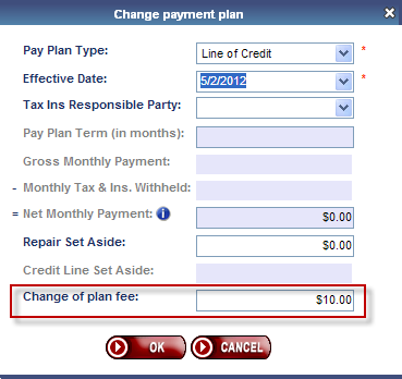 Change of Plan View Change of Plan history Click to perform a Plan Change When a Change of Plan