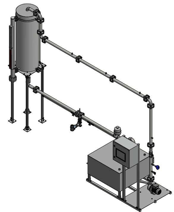 Flow Rig To control the level of water in a system through the use of pump speed and control valve using PLC/HMI control
